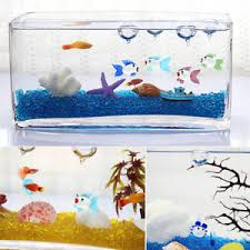 aquarium floating blown glass micro fish tank landscape