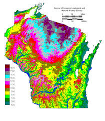 topo maps wisconsin jg enb 150 topographical map of wisconsin elevation