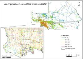 Traffic Map Los Angeles by News Nasa Partners Target Megacities Carbon Emissions