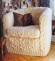 Diy Armchair Knit An Aran Armchair Slipcover Curbly