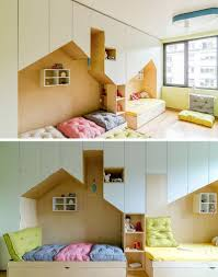 Kids Bed Designs With Storage This Fun Kid U0027s Bedroom Has Plenty Of Storage And Two Beds Inside