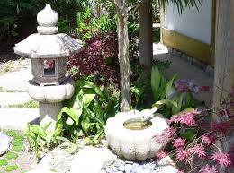 outdoor japanese style garden ornaments and accessories enhance