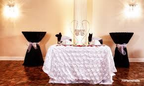 Banquet Table Linen - reception decor the sweetheart table and the head table