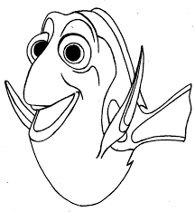 finding nemo dory smile coloring pages for kids ddo printable