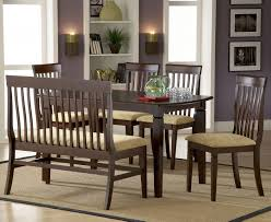 Casual Dining Room Tables by Rustic Solid Wood Casual Dining Table Chair Set W Bench With