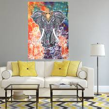 Yoga Home Decor by Large Mandala Tapestry Polyester Wall Tapestry Indian Elephant