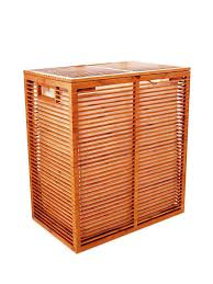 double laundry hamper with lid bamboo hamper for laundry sorter u2014 nursery ideas