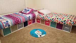 twin corner beds with storage bins u2013 jalenah