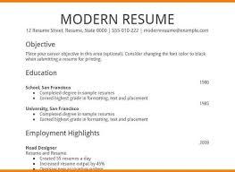 Sample Of Modern Resume by Download Google Resume Template Haadyaooverbayresort Com
