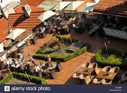 outdoor bbq restaurant near prague castle prague czech republic