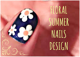 easy floral nail art tutorial flower nail designs crix