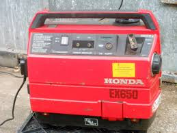 honda ex650 quiet running suitcase generator excellent working