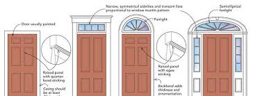 colonial style front doors federal style entry doors with a window transom windows