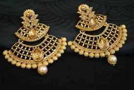artificial earrings artificial jewellery gold tone earrings with pearl