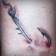 hook tattoos and designs hook tattoo meanings hawaiian hook