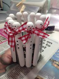 dolly peg snowmen i love christmas pinterest snowman craft