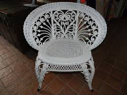 Rattan Accent Chair Antique Victorian Wicker Rattan Occasional Accent Chair Ornate