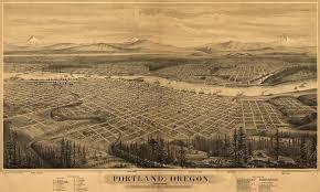 Map Of Portland Oregon by Glover U0027s Birdseye View Of Portland Oregon 1879