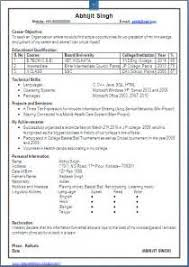 Sample Blank Resume by Cv Format For Freshers Computer Engineers