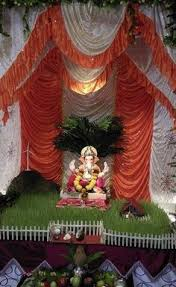 Home Ganpati Decoration Decoration Ideas At Home For Ganpati With Theme Ganpati
