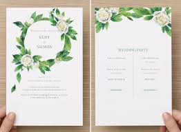 modern wedding programs fantastic and modern wedding programs to print