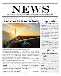 sample blank newspaper 9 newspaper templates word excel pdf formats