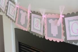 baby shower pink u0026 gray gingham french toile bodysuit one