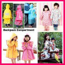 qoo10 2pc free shipping children raincoat rainboots