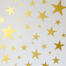personalised large name in stars wall sticker by bloobry star wall stickers