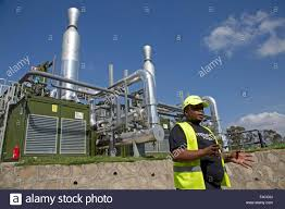 chp stock photos chp stock images alamy training officer 2 4 mw biojoule biogas chp plant anaerobic digestion gorge farm energy park lake naivasha