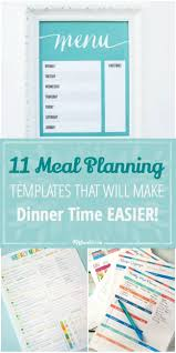 party menu planner template 11 meal planning templates that will make dinner time easier 11 meal planning templates that will make dinner time easier jpg