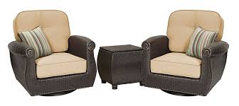 Swivel Wicker Patio Chairs by Amazon Com La Z Boy Outdoor Breckenridge 3 Piece Resin Wicker