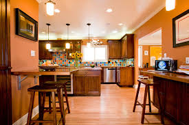 Kitchen Islands With Posts Orange And Brown Kitchen Decor Imposing Yellow Turquoise Cow
