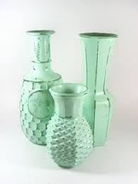 Mint Green Vase Fluted Organic Yellow Vase Ceramic Vases Contemporary