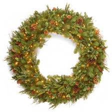 national tree co 48 lighted pine wreath reviews wayfair