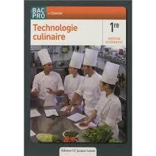 technologie cuisine technologie culinaire 1ère bac pro cuisine pochette de l élève