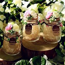 jar favors 50pcs glass jar wedding favors candy boxes wishing bottle clear