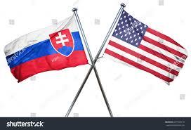 Slovak Flag Slovakia Flag American Flag Isolated On Stock Illustration
