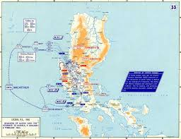 Map Of World Korea by Map Of Wwii Luzon Manila 1945
