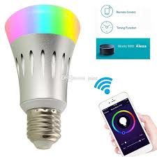 alexa controlled light bulbs e27 wifi smart led light bulb color changing works with app amazon