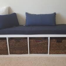 ikea kallax bench home decor alluring bench cushion handmade ikea kallax cushion