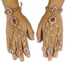 bridal bracelet with ring images Buy indian bridal jewellery ring bracelet gold tone haath phool jpg