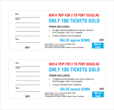 sample raffle ticket template 20 pdf psd illustration word