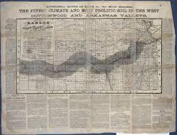 Santa Fe Map The Atchison Topeka And Santa Fe Railroad U0027s Map Of Kansas