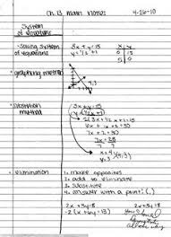best example of cornell notes math notebooking pinterest