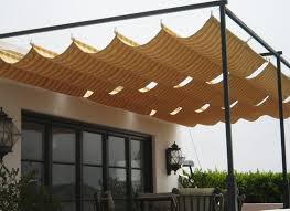 Shade Awnings Retractable Awnings And Drop Curtains And Shades Awnings Banners