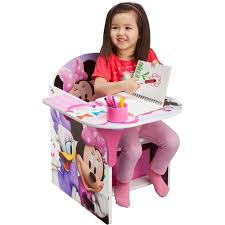 disney chair desk with storage minnie mouse chair desk with bonus storage bin walmart com