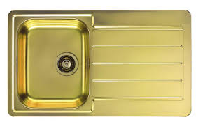 Gold Kitchen Sink Brass Gold Kitchen Sink Inset Uk Alveus Monarch Line 20 Gold
