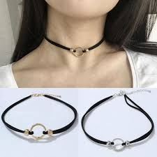 women choker necklace images Female neck band neck chain sexy metal clavicle chain wild jpg