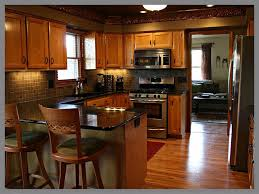 cheap kitchen remodel red throw rug brown wooden flooring gas
